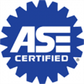 ASE-certified technician performing maintenance oil and filter change
