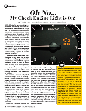 check engine light article