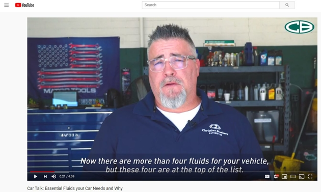 essential fluids car talk YouTube video link